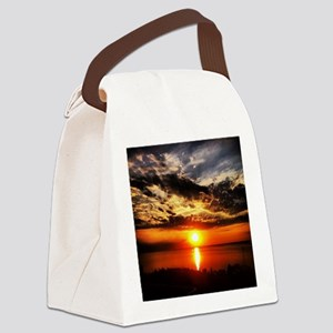 Sunrise of Fire Canvas Lunch Bag