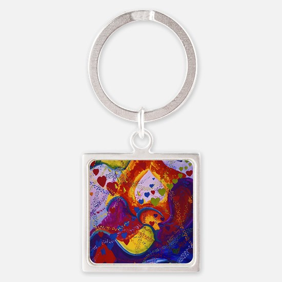 The Power of Love Square Keychain