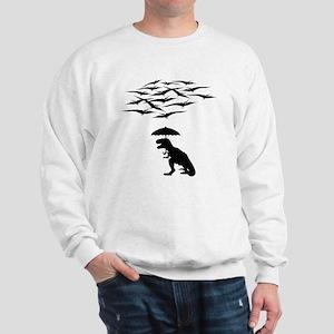 T-Rex vs the Pterodactyls Sweatshirt