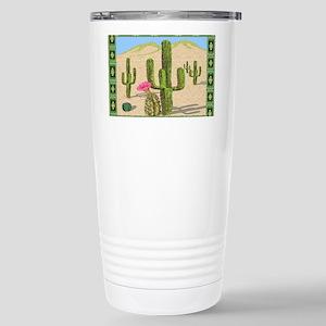 desert cactus area rug Stainless Steel Travel Mug