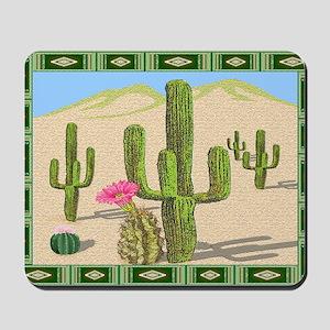 desert cactus area rug Mousepad