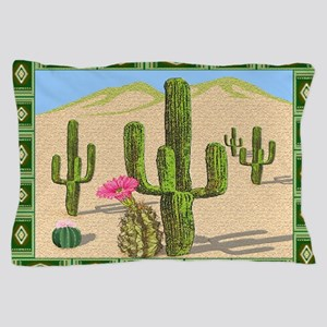 desert cactus area rug Pillow Case