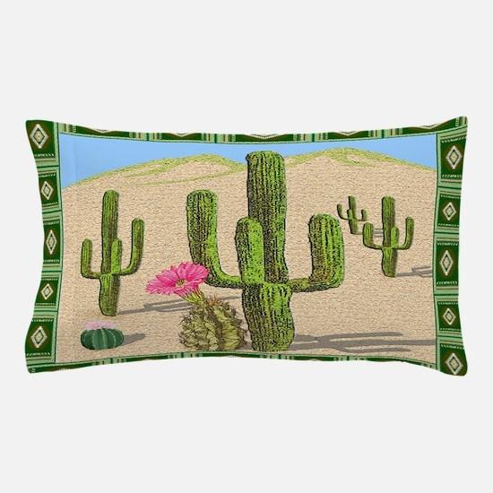 desert cactus area rug Pillow Case