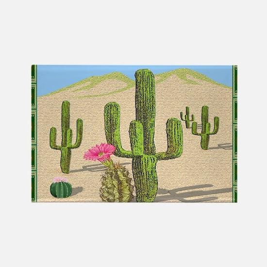 desert cactus area rug Rectangle Magnet