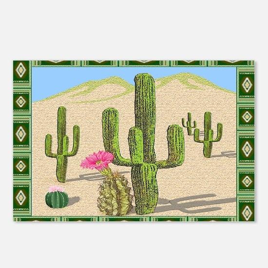 desert cactus area rug Postcards (Package of 8)