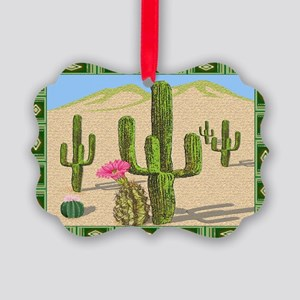 desert cactus area rug Picture Ornament