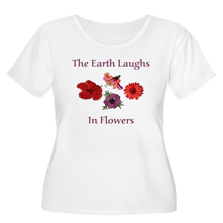 Florist Women's Plus Size Scoop Neck T-Shirt