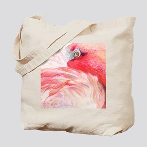 Gel Mouse Pad with Pink Flamingo Tote Bag
