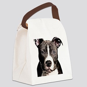 Cartoon Pit Pup Canvas Lunch Bag