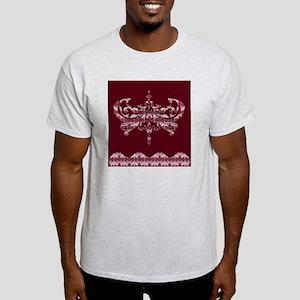 Damask - Cranberry Wishes Sticky Not Light T-Shirt