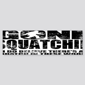 Gone Squatchin (distressed faded) Sticker (Bumper)