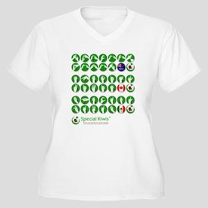 Special Kiwis + size Women's V-Neck T-Shirt