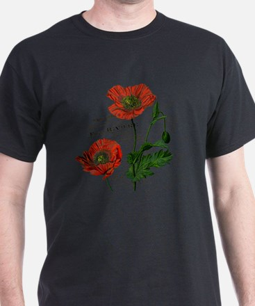 Poppies French  Vintage Art T-Shirt