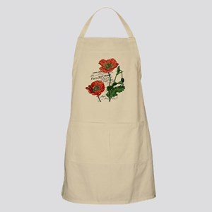 Poppies French  Vintage Art Apron