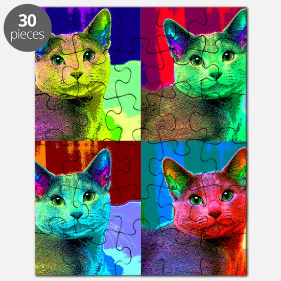 Pop Cat Art Design Puzzle