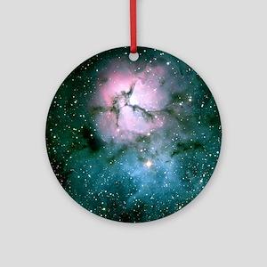 Trifid Nebula Round Ornament