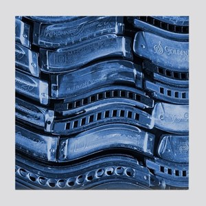 blues harmonicas Tile Coaster