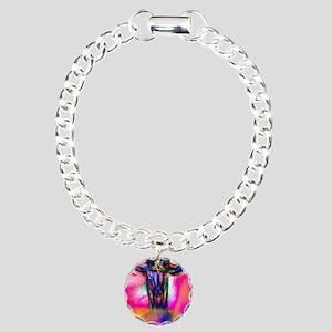 Psychedelic Baphomet Charm Bracelet, One Charm