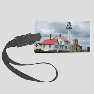 Whitefish Point Lighthouse Large Luggage Tag
