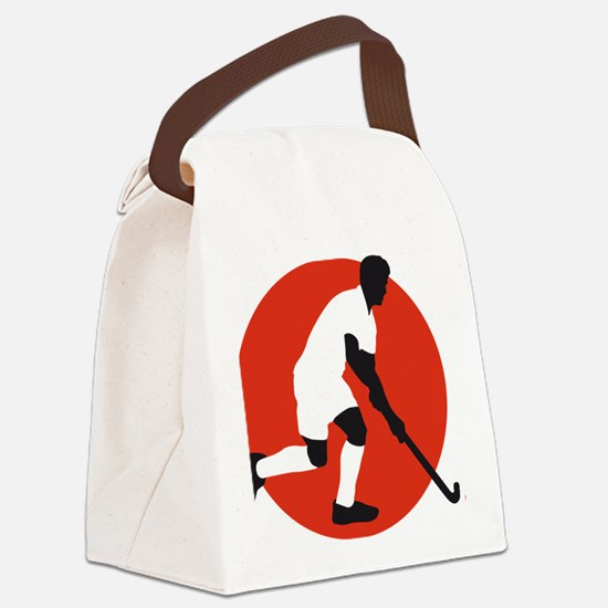 field hockey player Canvas Lunch Bag