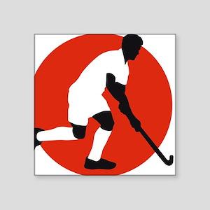 "field hockey player Square Sticker 3"" x 3"""