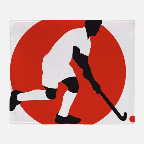 field hockey player Throw Blanket