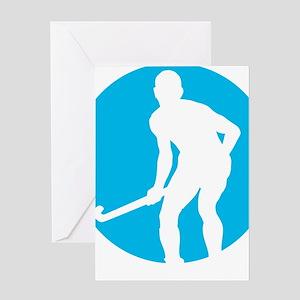 field hockey player Greeting Card