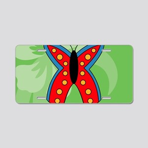 Butterfly Small Serving Tra Aluminum License Plate