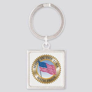 MADE IN THE USA SEAL! Square Keychain