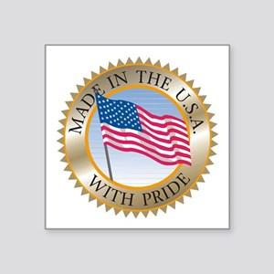 "MADE IN THE USA SEAL! Square Sticker 3"" x 3"""