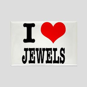 I Heart (Love) Jewels Rectangle Magnet