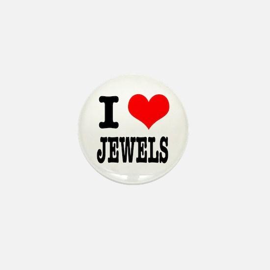 I Heart (Love) Jewels Mini Button