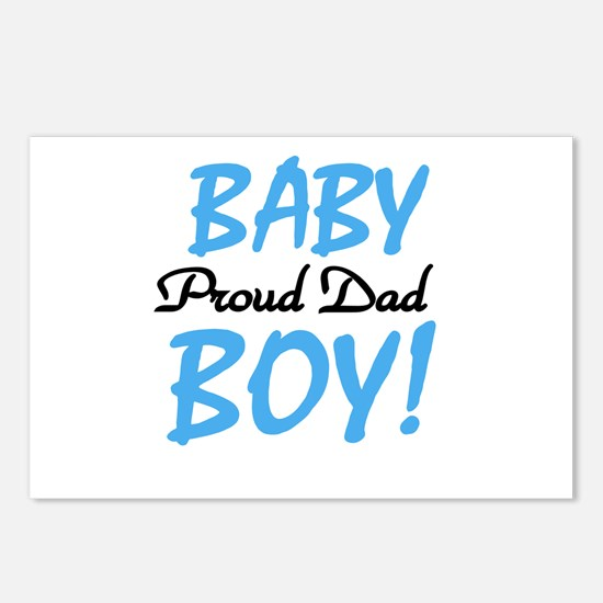 Baby Boy Proud Dad Postcards (Package of 8)