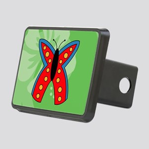 Butterfly Kids All Over Pr Rectangular Hitch Cover