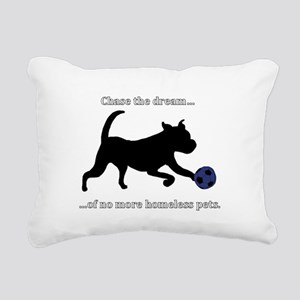 Chase the dream of no mo Rectangular Canvas Pillow