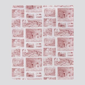English Cottages curtain Throw Blanket