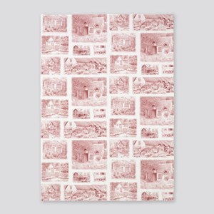 English Cottages curtain 5'x7'Area Rug