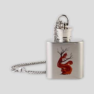 The kitsune Flask Necklace