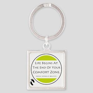 Comfort Zone Square Keychain