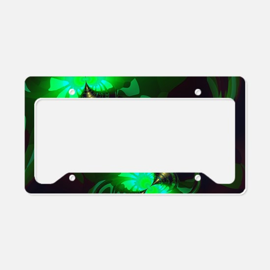 Irish Goblin Emerald Gold Rib License Plate Holder