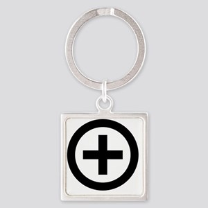 Collared (female) Square Keychain