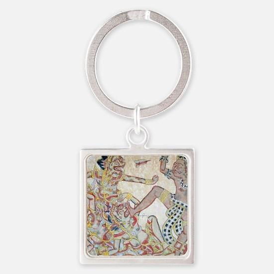 Good vs Evil- Balinese Image T-Shi Square Keychain