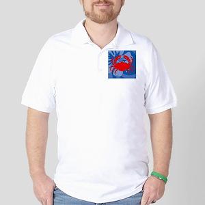 Crab Cloth Napkins Golf Shirt