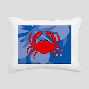 Crab Glass Cutting Board Rectangular Canvas Pillow