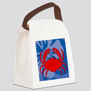 Crab 60 Curtains Canvas Lunch Bag
