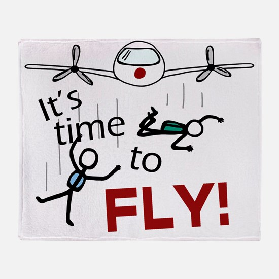 Its Time To Fly Throw Blanket