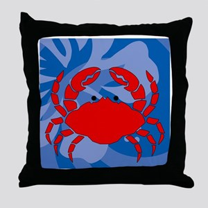 Crab 60 Curtains Throw Pillow