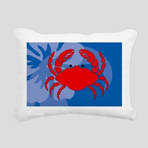 Crab Bucket Bag Rectangular Canvas Pillow