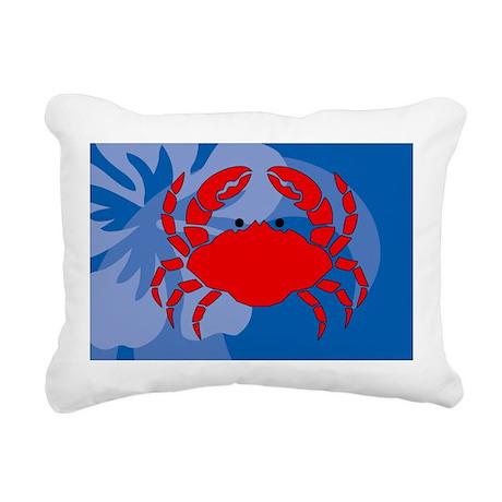 Crab Bucket Bag Rectangular Canvas Pillow