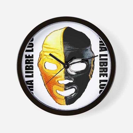 Mexican Wrestling Mask T-Shirt Wall Clock